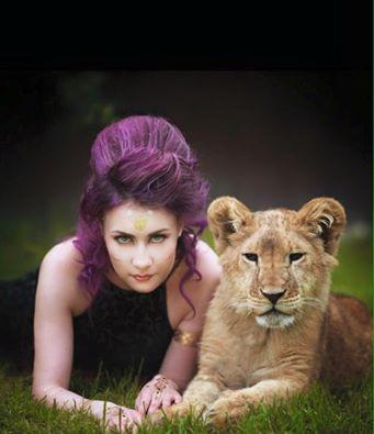 лев на фотосессию